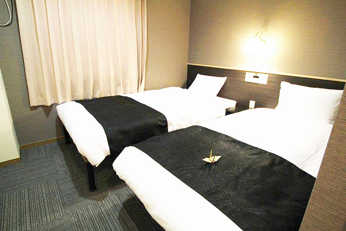 スタンダードツインルームA  シングルベッド2台のお部屋です。