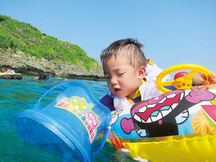 ちびっこシュノーケル(2歳~)  ボートの上から箱メガネでお魚ウォッチング!