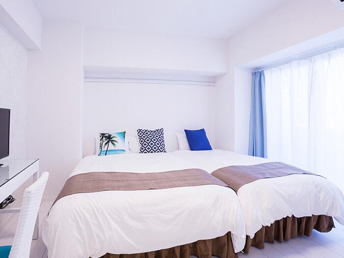 超大雙人房(Annex別館・最多可入住3位),交通便捷,非常適合商務出差或旅遊住宿使用。