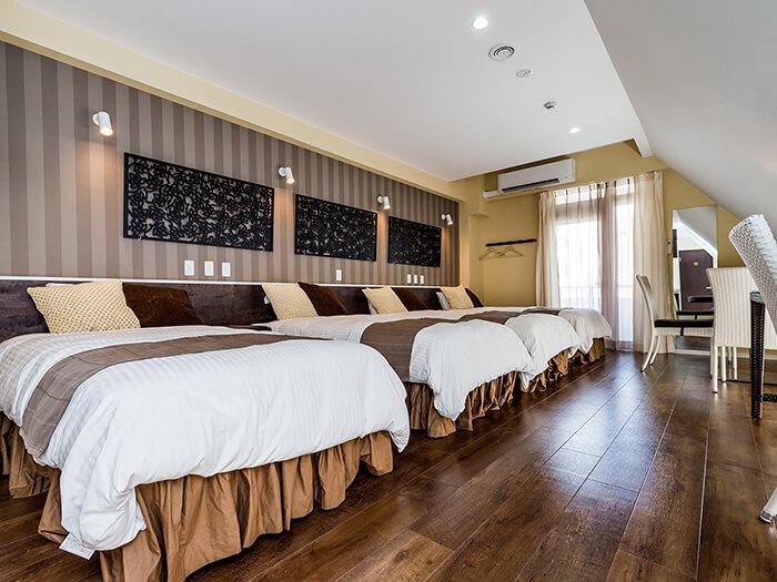 人氣的4床房(本館),適合家人或親友團體在此休息利用。