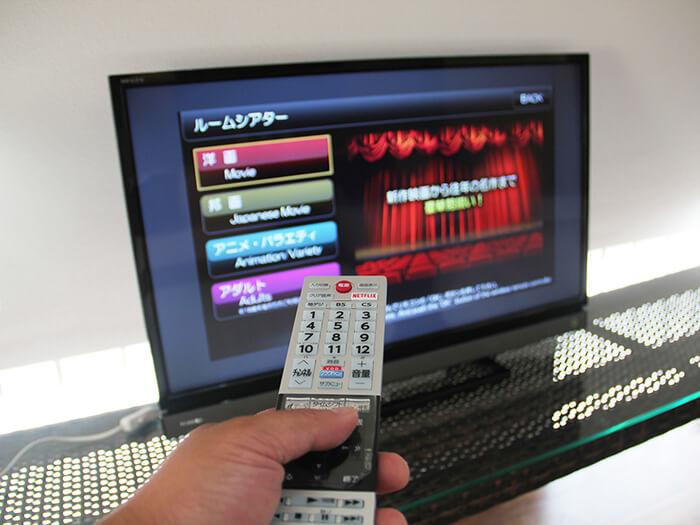 所有的房間都有150個免費線上影視頻道可以收看。