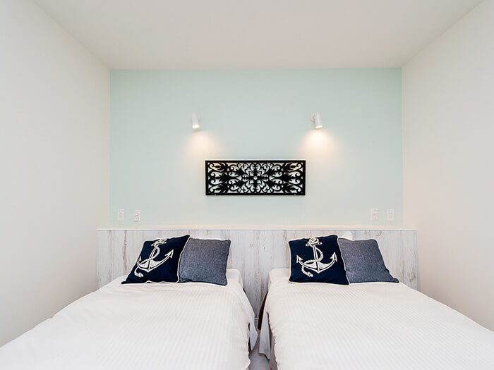 雙床房(本館)舒適清潔,可以療癒旅程中的疲憊。