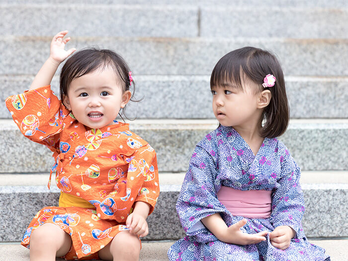 Children's kimono is also cute too.