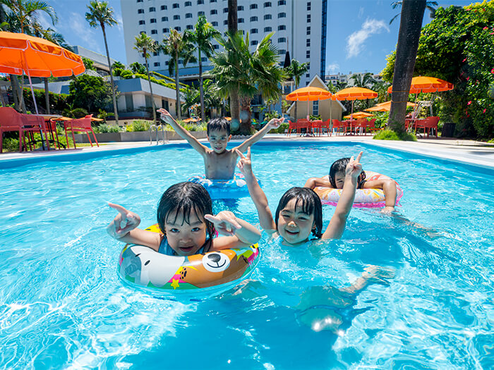 水深65㎝のキッズ用プールで小さなお子様のいるファミリーでも安心!